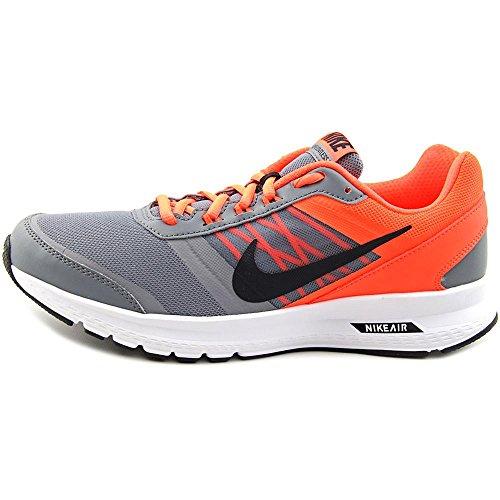 Nike - Zapatillas de Piel para hombre black sail action red 015 cool grey black total crimson 006