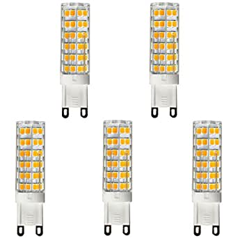 Dimmable G9 LED Bulb 7W, 75W-100W Halogen Bulb Replacement, Warm White 3000K, Bi Pin,5-Pack