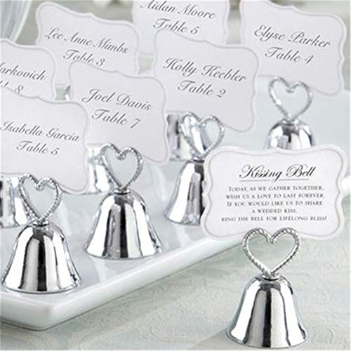 Gold Bell Place Card Holders - 20pcs Silver Gold Bell Place Card Holder/Photo Holder Wedding Table Decoration Favors