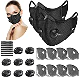 UBRU Sports Mask Set, 2 Cycling Masks with Inner