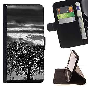 Momo Phone Case / Flip Funda de Cuero Case Cover - Árbol de la tormenta;;;;;;;; - LG G3