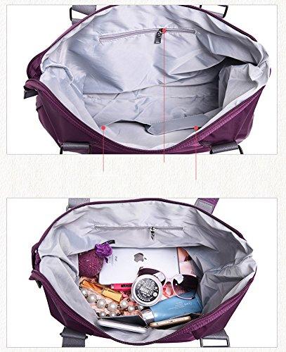 Yokeeyoo - Bolso mochila  para mujer morado morado small Azul