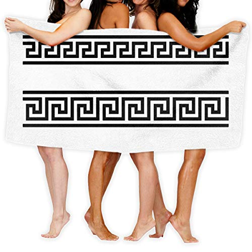 Beach Towels for Women Men Greek Fret Key Design Large Blanket Fast Drying Multipurpose Swimming Pool Bath Towels 31x51 Inches
