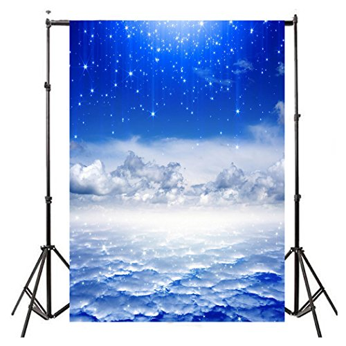Nebula Star Backdrop - 5x7FT Photo Photography Background for Baby Wedding Party -