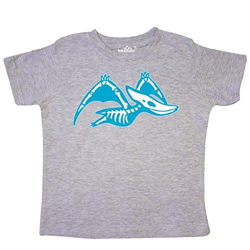 Pteranodon Skeleton - inktastic - Dinosaur Pteranodon Skeleton Toddler T-Shirt 5/6 Heather Grey 2bd1d