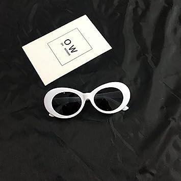 VVIIYJ Hip Hop Gafas de Sol Blancas Gafas Gafas de Sol ...