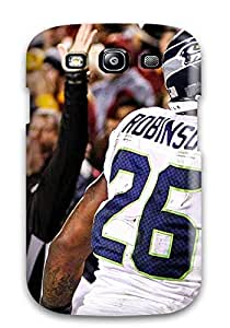 Anti-scratch And Shatterproof Seattleeahawks Phone Case For Galaxy S3/ High Quality Tpu Case