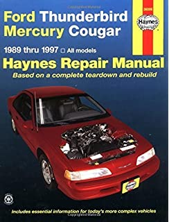 Ford Thunderbird & Mercury Cougar 8997 (Haynes Repair Manuals) Paperback –