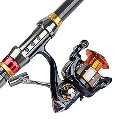 Goture Fishing Rod and Reel Combo Set 8.86FT 9.84FT 11.81FT Telescopic Fishing Rod Spinning Reel GT 4000 For Freshwater Saltwater