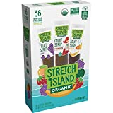 Stretch Island Organic Tropical Strawberry Grape Fruit Strips Variety Pack, 36 Count, 0.5oz(14G)