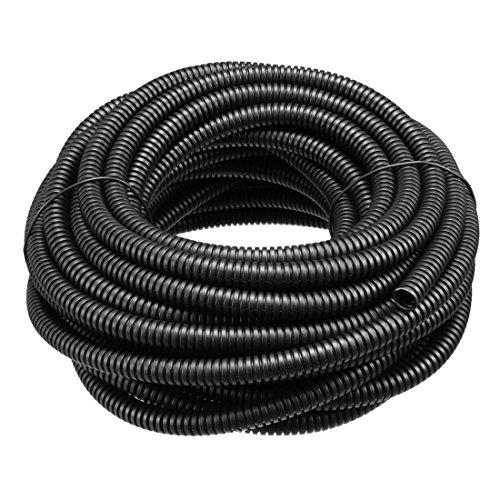 uxcell Corrugated Tube Conduit PP Polyethylene Tubing