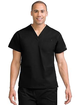 7501c72805b Amazon.com: Med Couture Men's 3-Pocket Scrub Top: Clothing