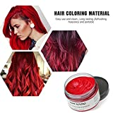 MOFAJANG Hair Coloring Dye Wax, Wine Red Instant