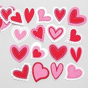 Filzaufkleber Herz Kreatives Bastelmaterial Für Kinder