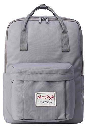 HotStyle Cute Lightweight Travel Daypack School Backpack - Fits 15-inch Laptop - LightGrey
