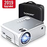 Mini Projector, BOMAKER GC555 Portable Projector with Carry Bag, 3,600 Lux LCD Video Projector, FULL HD 1920*1080P and 250'' Display Supported, Compatible with TV Stick, PS4, HDMI, VGA, TF, AV and USB