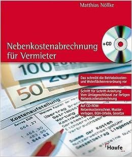 nebenkostenabrechnung fr vermieter 9783448065503 amazoncom books - Nebenkostenabrechnung Muster