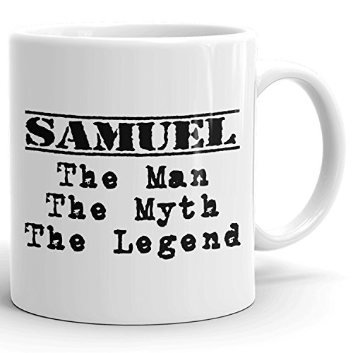 Best Personalized Mens Gift! The Man the Myth the Legend - Coffee Mug Cup for Dad Boyfriend Husband Grandpa Brother in the Morning or the Office - S Set 1