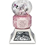 Up Words by Pavilion Pink Tea Light Candle Holder, Cherish Dream Live Sentiment, 5-1/2-Inch Tall, Includes Tea Light Candle