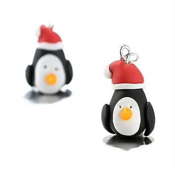 Polymer Clay Christmas Earrings.Amazon Com Animal Dangle Hook Penguin Pattern Ear Stud