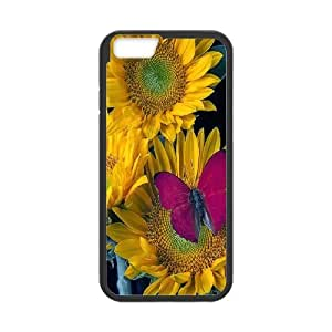 """Unique Phone Case Pattern 15Sunflowers Pattern- For Apple Iphone 6,4.7"""" screen Cases"""