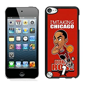 New Custom Design Cover Case For iPod Touch 5th Generation Chicago Bulls Rose 8 Black Phone Case