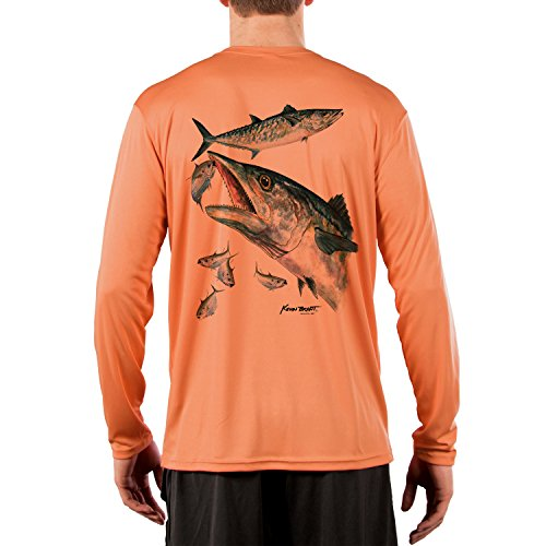 Kingfish Long Sleeve - Kevin BRANT kingfish Men's UPF 50+ Long Sleeve T-Shirt Small Citrus