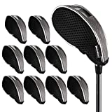 Andux Mesh Golf Iron Club Head Covers with Windows 10pcs/Set 01-YBMT-001