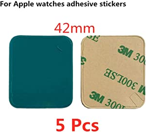 5 Pack Rear Case Housing Adhesive Strips Waterproof Tape Glue Replacement for Apple Watch (2&3 Generation) and Series 2&3 Replacement Pre-Cut Front LCD Sticker for Apple Watch (42mm)