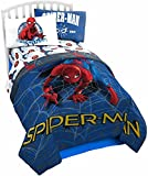Marvel Spider Man Wall Crawler Twin Comforter - Super Soft Kids Reversible Bedding features Spiderman - Fade Resistant Polyester Microfiber Fill (Official Marvel Product)