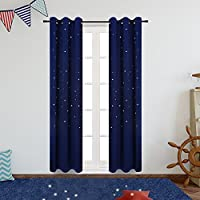Anjee Blackout Curtains for Kids Room (2 Panels), Starry...
