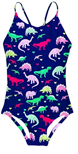 AIDEAONE Girls One Piece Swimwear Cool Dinosaur Bathing Suit Beach Swimsuits 5-6 Years]()