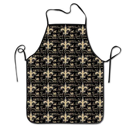 - Marrytiny Kitchen Chef Apron New Orleans Saints Football Team Apron Unisex Kitchen Bib Cooking Women's Men's Baking Gardening