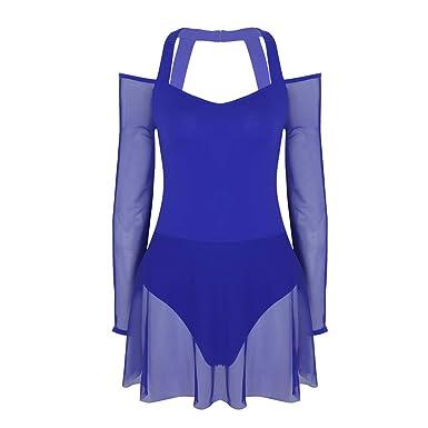 iiniim Robe de Danse Classique Femme Justaucorps Danse Gymnastique Gym  Patinage Yoga Leotard Robe Ballet Latine 0ce5724d92d