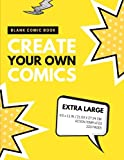 Blank Comic Book: Create Your Own Comics: Extra Large, 220 Pages, Action Templates (Blank Comic Book for Kids) (Volume 5)