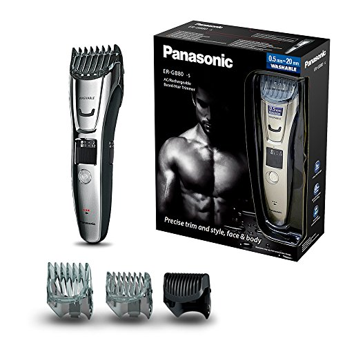 Panasonic ER-GB80  Beard, Hair and Body Trimmer Wet and Dry (40 x Lengths,...