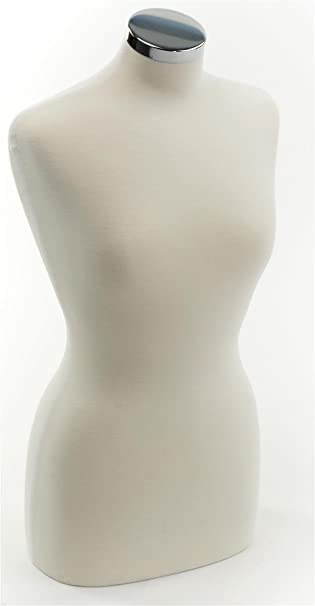 Amazon Com Displays2go Jersey Covered Female Mannequin Tabletop