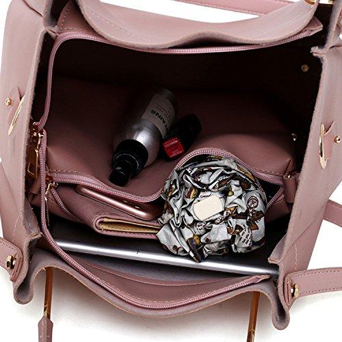 Bag Pink PU 4 Leather Casual Chain Shoulder Top bag Crossbody Handbags Long Fashion With Set Handle NOTAG pcs Purse p8xUqq