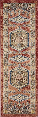 Traditional Persian Rugs Vintage Design Inspired Overdyed Fancy Terracotta 2' x 6' St. James Area Rug ()
