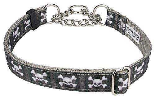 Country Brook Design Nytemare Ribbon Half Check Dog Collar - Extra Large