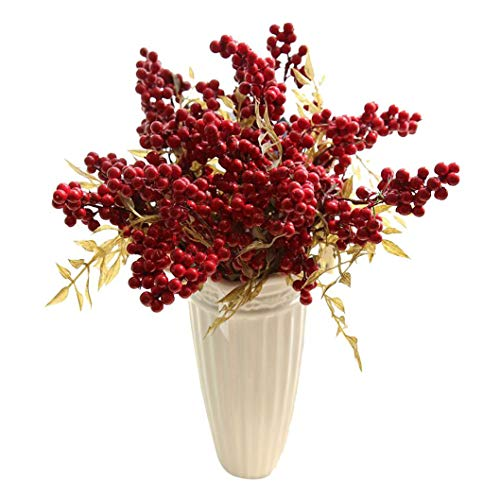 - Euone  Bouquet Beans, 10 Bouquet Artificial Flowers Auspicious Christmas Fruits Rich Fruit Home Decor Plant Berries