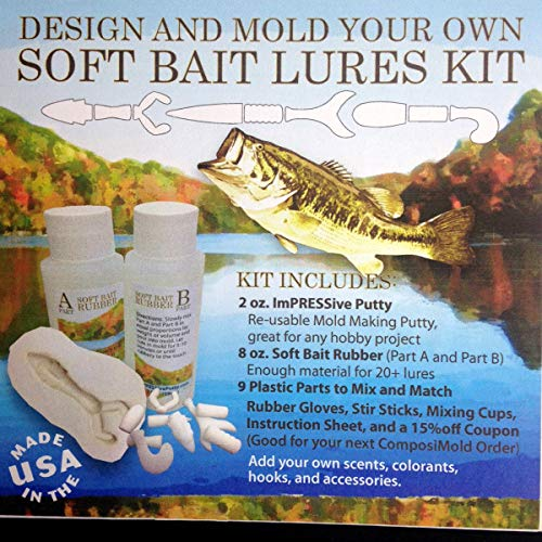 Make Your OWN Soft Bait Fishing Lures KIT ()