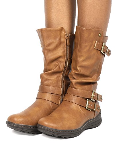 DREAM PAIRS Frauen Moskauer Fashion Boot Moskau-Kamel