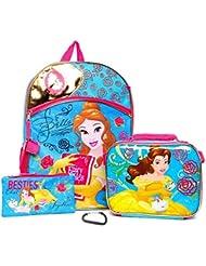 Disney Beauty & the Beast Belle 4 Piece School Backpack Set - Kids