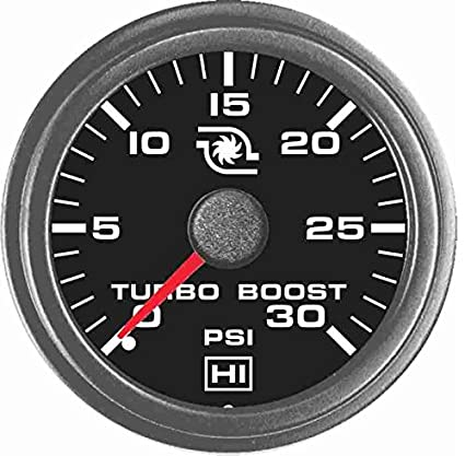 Amazon.com: TruckMeter Hewitt 102TM5006 30 PSI Universal Turbo Boost Gauge KIT: Automotive