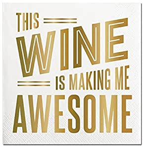 Slant Cocktail Napkins 20 Count This Wine Is Making Me Awesome by Slant