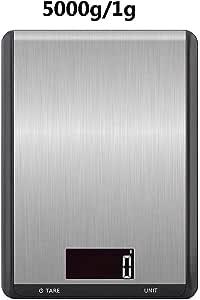 FBGood Báscula electrónica de Alta precisión - Nuevas básculas electrónicas para cocinas Planas, básculas electrónicas portátiles para cocinas, 5 kg: Amazon.es: Hogar