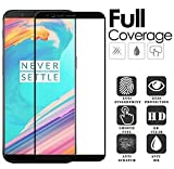 Pro Hd+ Crystal Clear Full Screen Coverage Tempered Glass Screen Protector For Oneplus 5T - Black