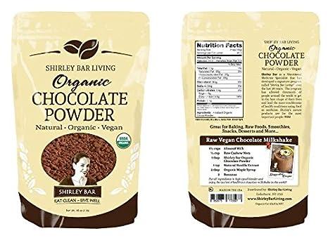 Shirley Barra de vida 1 Lb orgánico Cacao en polvo con un ...
