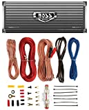 BOSS AUDIO AR2400.4 2400W 4 Channel Car Amplifier AR24004+Remote+8 Ga Amp Kit